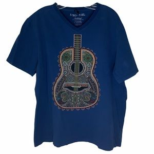 Ay Guey Guitar Blue T-Shirt